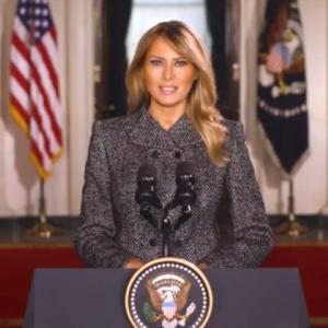 メラニア大統領夫人 【お別れのメッセージ】