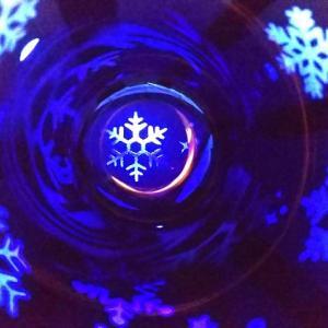 雪の結晶のグラス -カット終了♪-