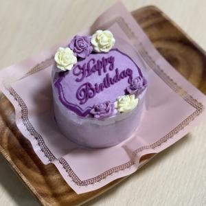 お誕生日ケーキ食べたよ♪