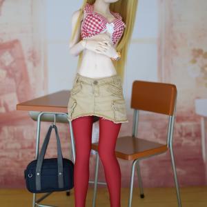 ささら&Vintage Cargo skirt-Beige