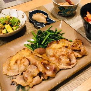 豚ロースの西京味噌漬け焼き、非常食を食べる日が来ませんように
