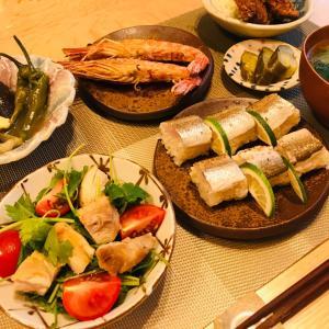 カマスのお寿司、楽しい事をしている時は
