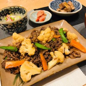 牛肉とカリフラワーの炒め物、メレンゲ気分