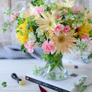 限られた花材で美しく