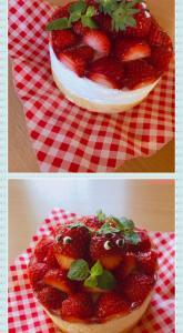 可愛いイチゴのレアチーズ( ͡° ͜ʖ ͡°)
