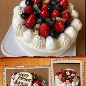 お誕生日ケーキ@(・●・)@
