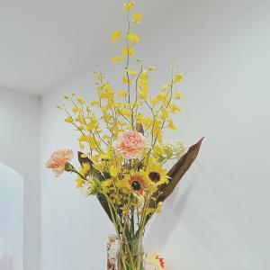 今週のお花とタンコブ