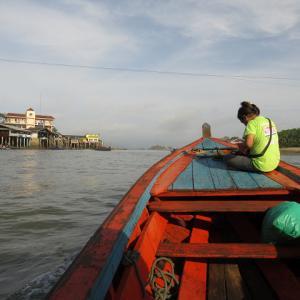 海路でミャンマー初入国・ラノーンからコータウンへ