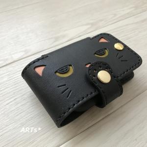 黒猫のネジ式キーケース☆オーダー品♪