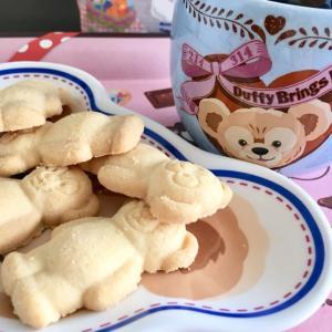 ダッフィーのクッキーでおうちカフェ