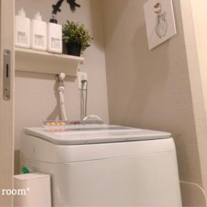 洗濯機まわり。towerシリーズのアイテムでさらにスッキリが実現♪(´ε` )