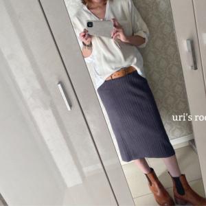 プチプラが嬉しい!楽ちん可愛いニットスカート。
