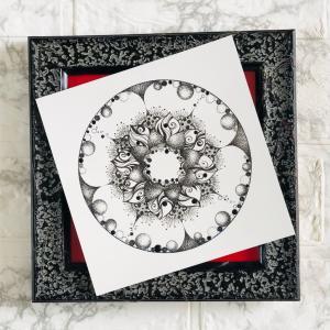 白い画用紙に描く曼荼羅の魅力 曼荼羅アート入門レッスン