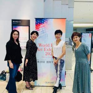 東京芸術劇場にて開催平和国際美術展 大盛況で迎えた最終日に感謝