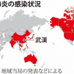 【速報】中国で原因不明の肺炎…