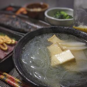 1カ月後の日本は  / 相変わらず質素な夕ご飯