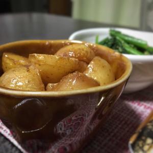 ドラッグストアの野菜が安い / ころ芋の甘辛炒め煮