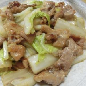 豚こまがやわらか~♪ 豚と白菜の味噌バター炒め