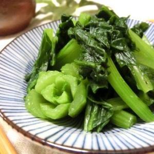 絶妙に美味しい箸休め♪ 小松菜のわさびおひたし