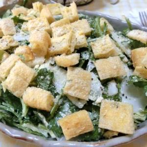 これハマります♪ 白菜と春菊のシーザーサラダ