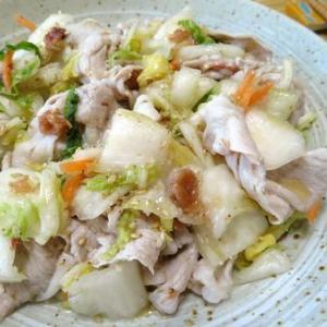 茹でたら混ぜるだけ☆ 豚しゃぶと白菜漬けの梅ごま油和え