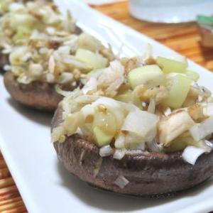じゅわウマ♪ ねぎ塩しらすのせ椎茸カップ焼き