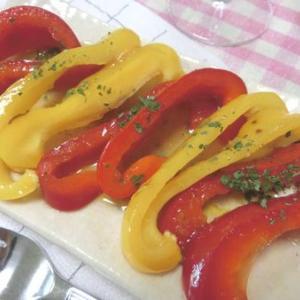 冷やして美味しい♪ 焼きパプリカの柚子胡椒ハニーマリネ