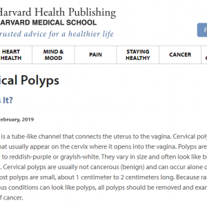 子宮頸管ポリープ