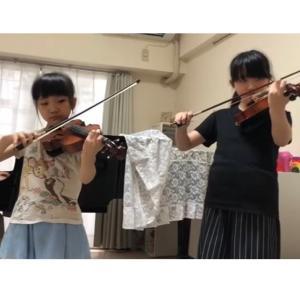 バイオリン姉妹アンサンブル動画♪