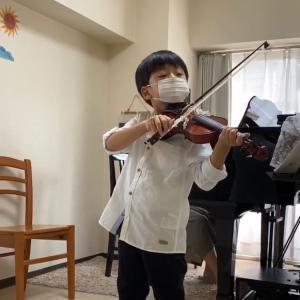 バイオリン演奏動画『日の丸』 頑張りました!
