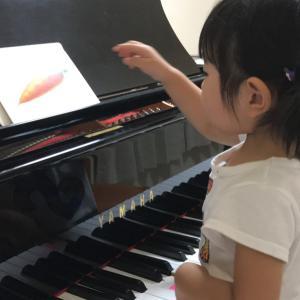 カードを使ったプレピアノのレッスン