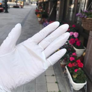 【ビニル手袋を使って感染予防】