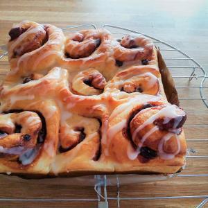 今週のパン:ちぎりシナモンロール