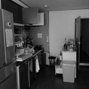 """●ビフォーアフター!キッチンにパパの""""コダワリ""""をまとめた整理収納!"""