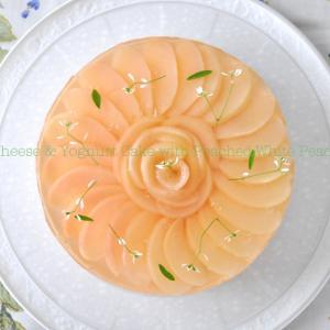 ピーチのヨーグルト&チーズケーキ! シドニーは今日も真夏日です!