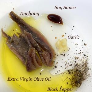 キャベツの簡単料理、もう1品。3分で出来るアンチョビ和え。