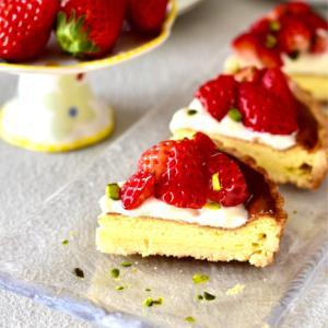 イチゴのチーズタルトレッスン 神戸舞子お菓子教室CakeCake