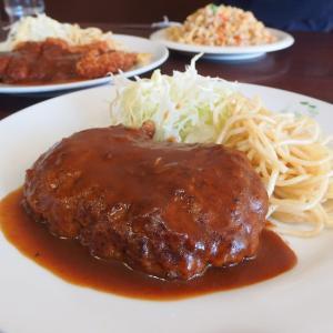 洋食 ひらおか@中央市場前・兵庫区中之島 「肉の旨味が加わったデミグラスソースの煮込みハンバーグがたまらん美味いねん!」