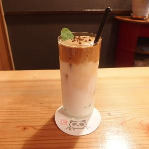 禁煙立呑みゼファー食堂@神戸・東川崎交差点角「本日よりダルゴナコーヒー割とミルクセーキ割をご用意するねん!」