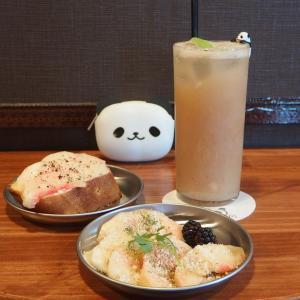 禁煙立呑みゼファー食堂@神戸・東川崎交差点角「北播磨と和歌山の美味いもんフェアは終了したけど、好評の桃セットはしばらく続ける予定やねん!」
