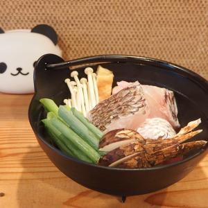 禁煙立呑みゼファー食堂@神戸・東川崎交差点角「明石鯛とマツタケの一人小鍋が美味くて香りがよくてたまらんねん!」