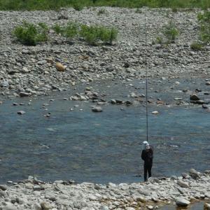 会津大川、本流試し釣り1回目❗とオトリの販売時間