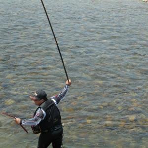会津大川試し釣り、本流2回目 専用区