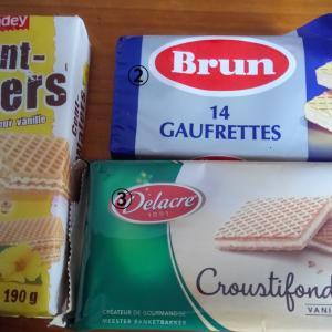 フランスで ウェハース食べ比べ