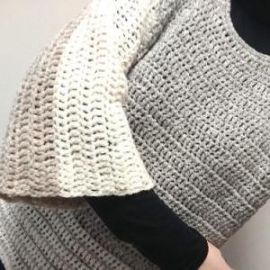 ザクザク編みのプルオーバー