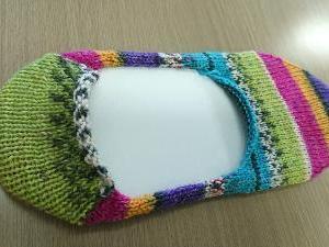 opal毛糸でカバーソックス♪