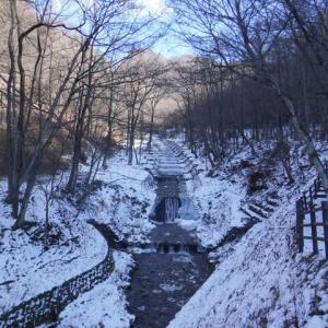 牛伏寺川の冬