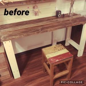 長机に棚を追加しました。