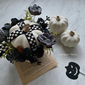 ハロウィン ホワイトかぼちゃ今年はこんな感じに。#haloween #happyhall...