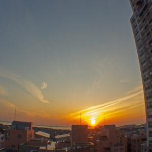 夕焼けと金星、すばる